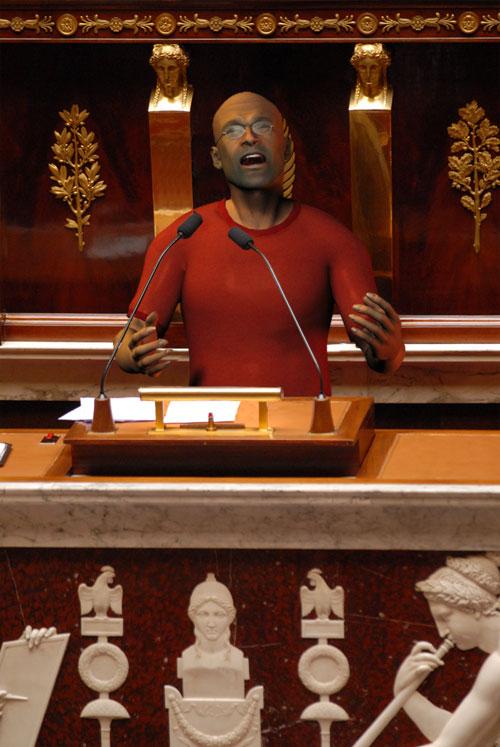Walter chante dans l'hémicycle
